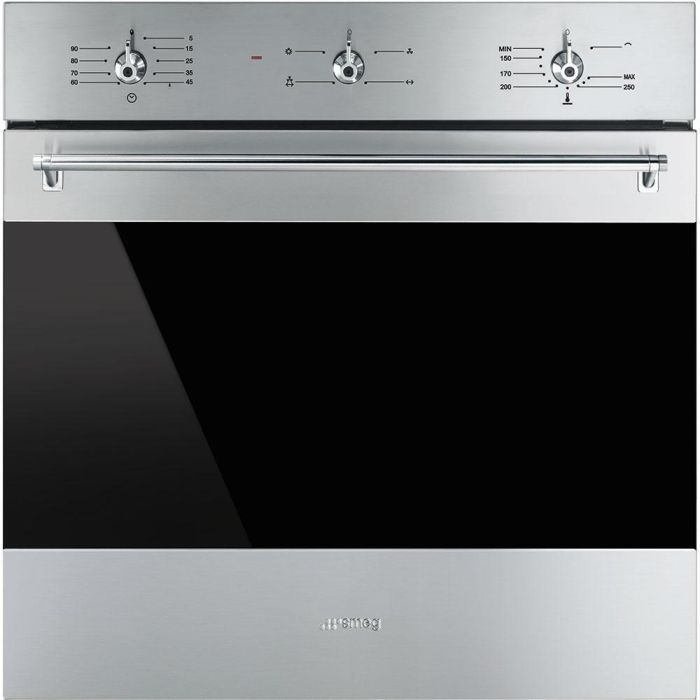 Smeg Single Oven Gas SF6341GVX - Stainless Steel / Dark Glass Image 1