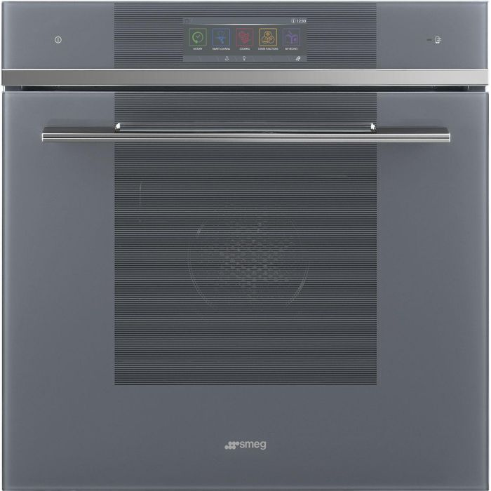 Smeg Single Oven Electric SFP6106WSPS - Silver Glass Image 1