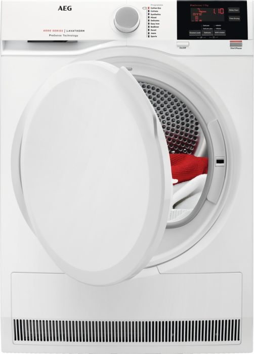 AEG Freestanding Condenser Tumble Dryer T6DBG720N - White Image 1
