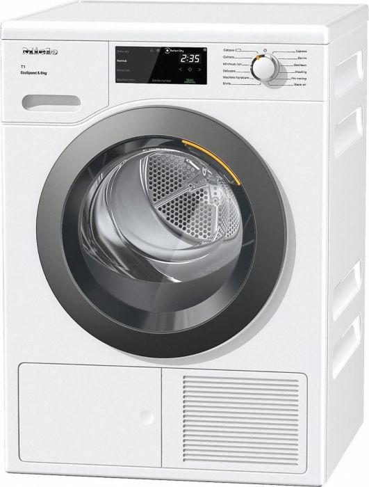 Miele Freestanding Condenser Tumble Dryer Heat Pump TCF640WP - White Image 1
