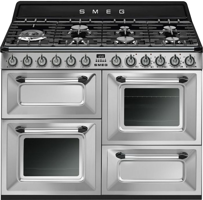 Smeg Range Cooker Dual Fuel TR4110X-1 - Stainless Steel Image 1