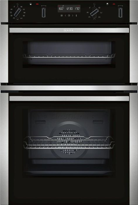 NEFF Double B/I Oven Electric U2ACM7HH0B - Stainless Steel Image 1