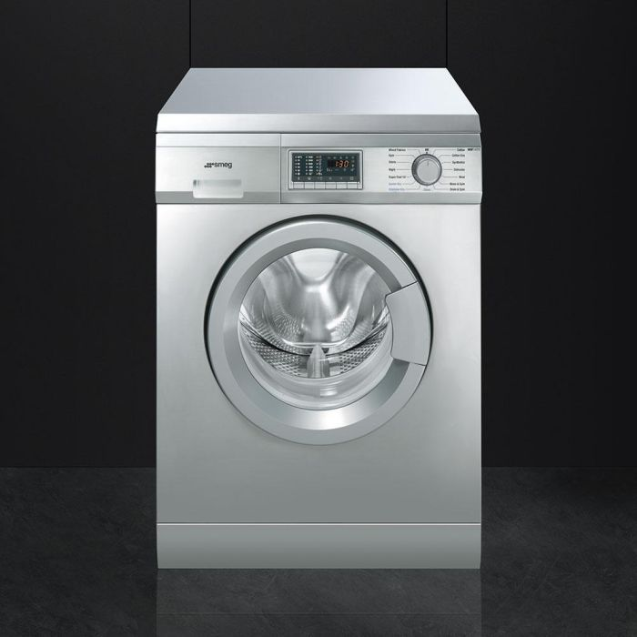 Smeg Freestanding Washer Dryer WDF147X - Stainless Steel Image 1