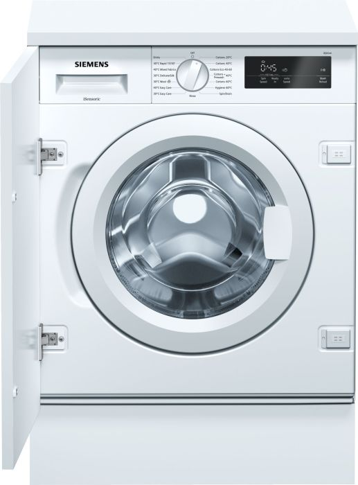 Siemens Built In Washing Machine Fully WI14W301GB - Fully Integrated Image 1