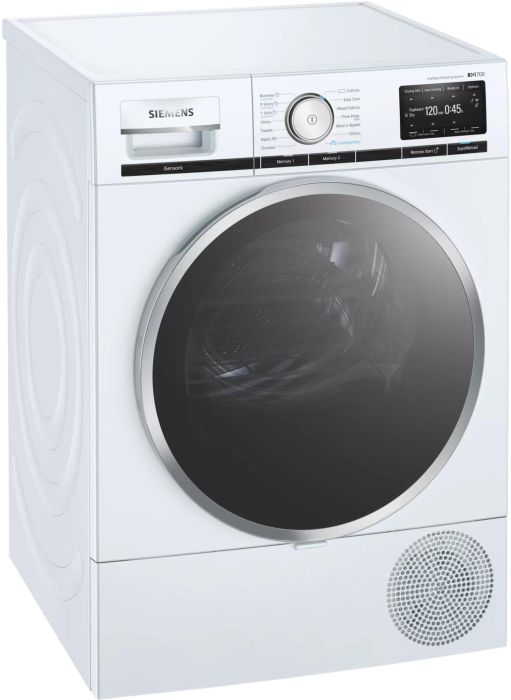 Siemens Freestanding Condenser Tumble Dryer Heat Pump WT48XEH9GB - White Image 1
