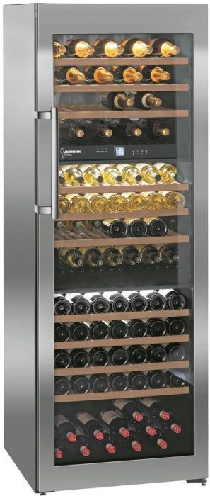 Liebherr Freestanding Wine Cooler WTES5872 - Steel / Glass Door Image 1