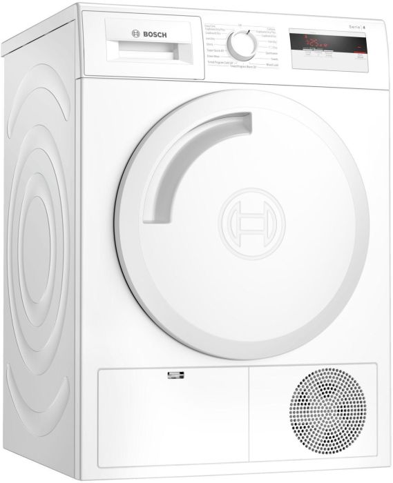 Bosch Freestanding Condenser Tumble Dryer Heat Pump WTH84000GB - White Image 1