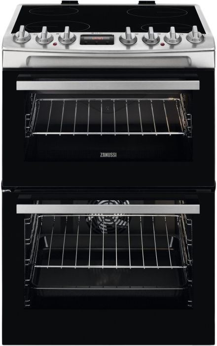 Zanussi Slot In Cooker Ceramic ZCV69360XA - Stainless Steel Image 1