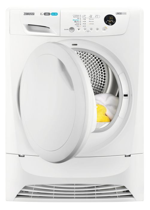 Zanussi Freestanding Condenser Tumble Dryer Heat Pump ZDH8903PZ - White Image 1