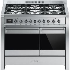 Smeg Range Cooker Dual Fuel A2-81 - Stainless Steel