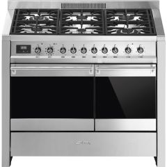 Smeg Range Cooker Dual Fuel A2PY-81 - Stainless Steel