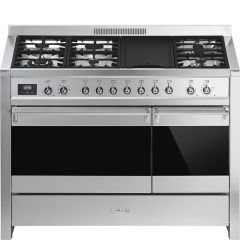 Smeg Range Cooker Dual Fuel A3-81 - Stainless Steel