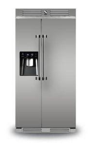 Steel Freestanding American Style Refrigeration AFR-9-SS - Stainless Steel