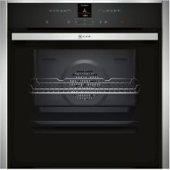 NEFF Single Oven Electric B57CR23N0B - Stainless Steel / Black Glass