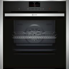 NEFF Single Oven Electric B57CS24H0B - Black / Stainless Steel