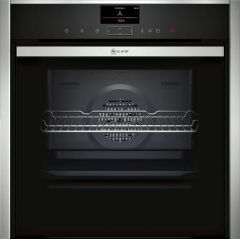 NEFF Single Oven Electric B57VS24H0B - Black / Stainless Steel