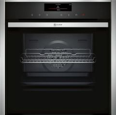 NEFF Single Oven Electric B58VT68H0B - Black / Stainless Steel
