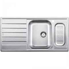 Blanco 1.5 Bowl Sink BLANCOLIVIT6S-CENTRIC - Stainless Steel