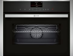 NEFF Steam Combi Oven C17FS32H0B - Black / Stainless Steel