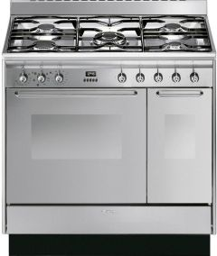 Smeg Range Cooker Dual Fuel CC92MX9 - Stainless Steel