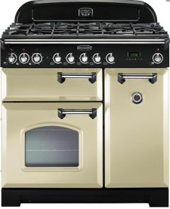 Rangemaster Range Cooker Dual Fuel CDL90DFFCR-C - Cream / Chrome