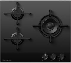 Fisher & Paykel Gas Hob CG603DNGGB4 - Black