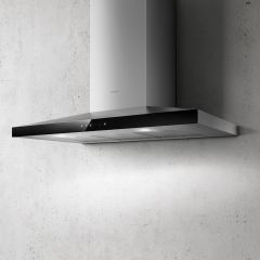 Elica Chimney Hood CLAIRE-90 - Stainless Steel / Black Glass