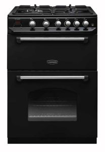 Rangemaster Slot In Cooker Gas Nat CLAS60NGFBL-C - Black / Chrome