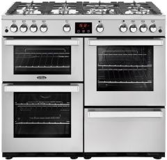 Belling Range Cooker Nat Gas COOKCENTRE-100G-PRO - Stainless Steel