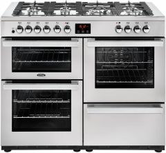 Belling Range Cooker Dual Fuel COOKCENTRE-110DFT-PRO - Stainless Steel