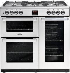 Belling Range Cooker Dual Fuel COOKCENTRE-90DFT-PRO - Stainless Steel