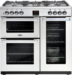 Belling Range Cooker Nat Gas COOKCENTRE-90G-PRO - Stainless Steel