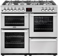 Belling Range Cooker Dual Fuel COOKCENTRE-DX-100DFT-PRO - Stainless Steel
