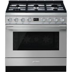 Smeg Range Cooker Dual Fuel CPF9GPX - Stainless Steel