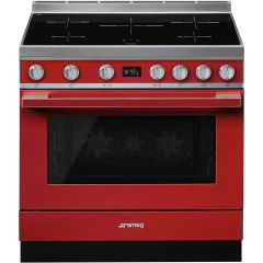 Smeg Range Cooker Induction CPF9IPR - Red