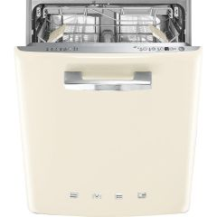 Smeg Built In 60 Cm Dishwasher Semi DI13FAB3CR - Cream