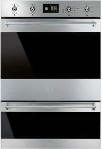 Smeg Double B/I Oven Electric DOSP6390X - Stainless Steel / Dark Glass