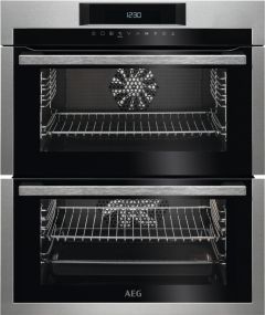 AEG Double B/U Oven Electric DUE731110M - Stainless Steel