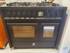 Steel Range Cooker Dual Fuel E10FF-6-NF-EX-DISPLAY - Nero Fumo