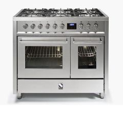 Steel Range Cooker Dual Fuel E10FF-6 - Stainless Steel
