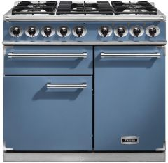 Falcon Range Cooker Dual Fuel F1000DXDFCA-NM - China Blue / Nickel