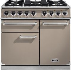 Falcon Range Cooker Dual Fuel F1000DXDFFN-NM - Fawn / Nickle