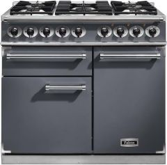 Falcon Range Cooker Dual Fuel F1000DXDFSL-NM - Slate / Nickle