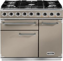 Falcon Range Cooker Dual Fuel F900DXDFFN-NM - Fawn / Nickle