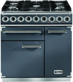 Falcon Range Cooker Dual Fuel F900DXDFSL-NM - Slate / Nickle
