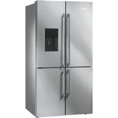 Smeg Freestanding American Style Refrigeration FQ75XPED - Stainless Steel