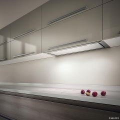 Elica Chimney Hood HIDDEN-90 - White Glass / Stainless Steel