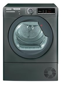 Hoover Freestanding Condenser Tumble Dryer HLXC8TRGR - Graphite
