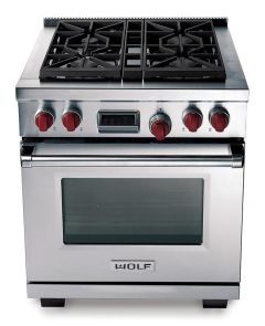Wolf Range Cooker Dual Fuel ICBDF304 - Stainless Steel