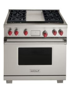 Wolf Range Cooker Dual Fuel ICBDF364G - Stainless Steel